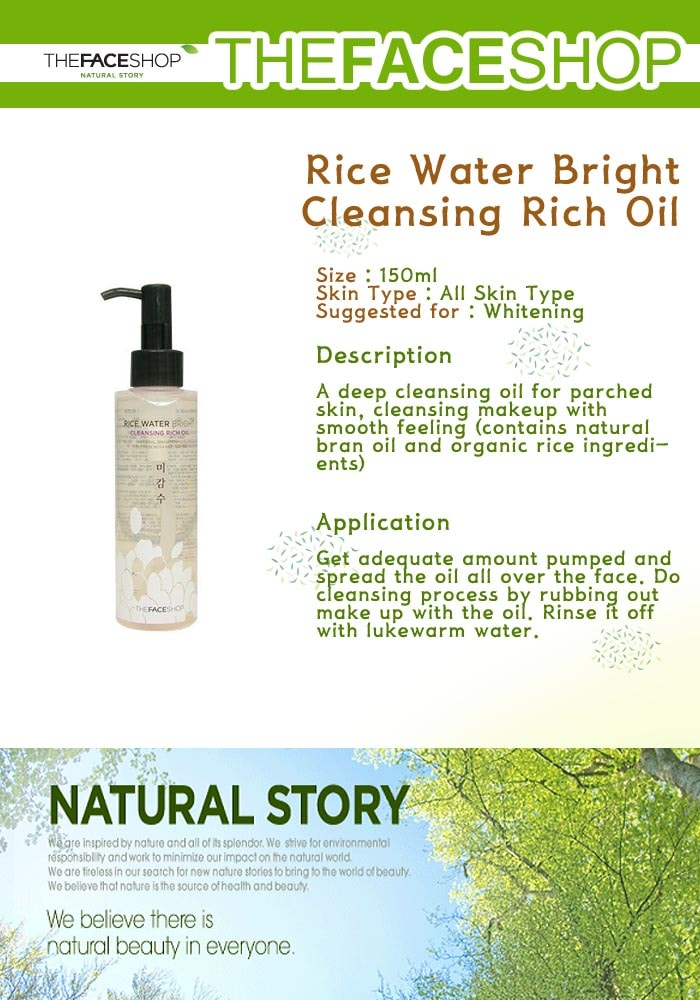 THE FACE SHOP Rice Water Bright Rich Cleansing Oil 150ml