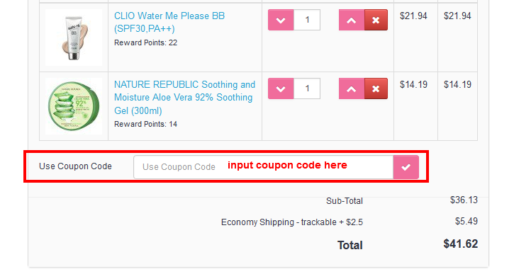 how to user coupon