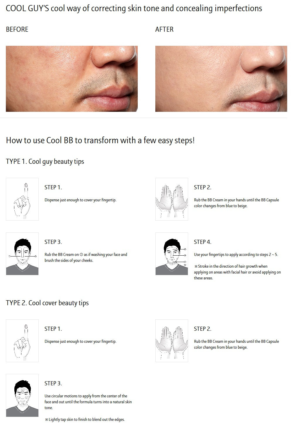 Laneige Homme Cool BB SPF25/PA++ 50ml