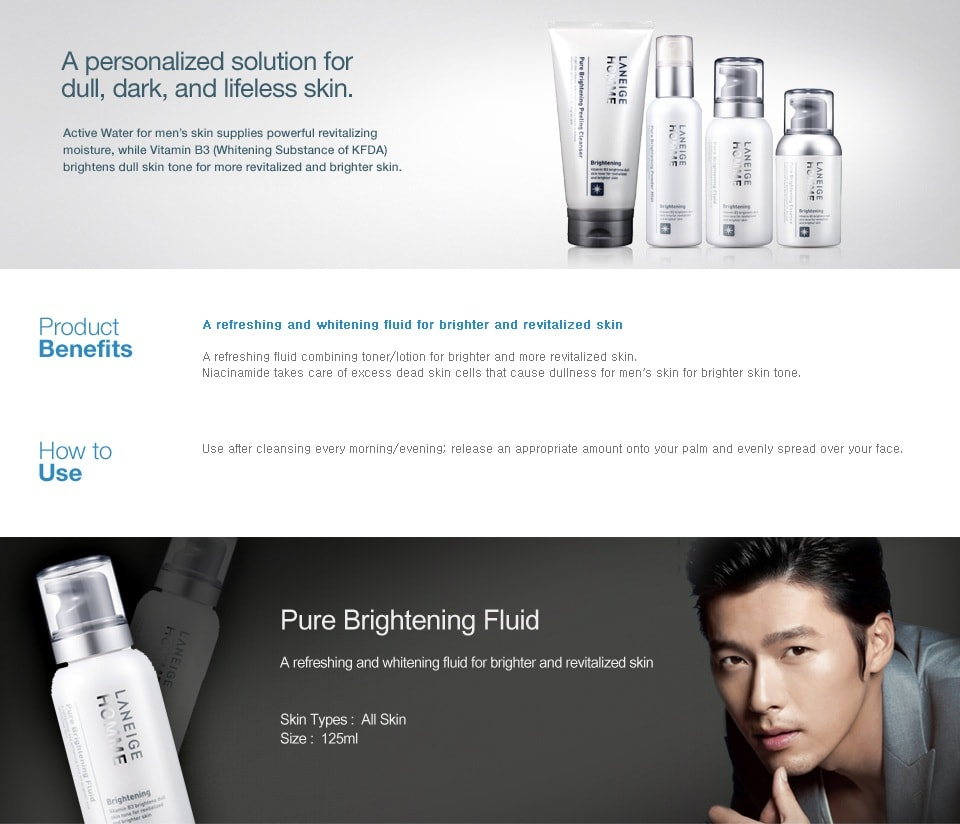 Laneige Homme Pure Brightening Fluid