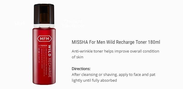 MISSHA For Man Wild Recharge Toner 180ml