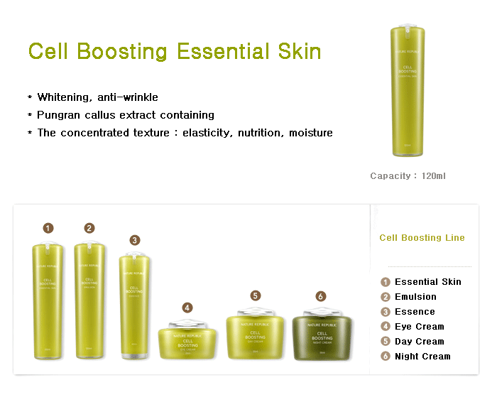 NATURE REPUBLIC Cell Boosting Essence Skin 120ml