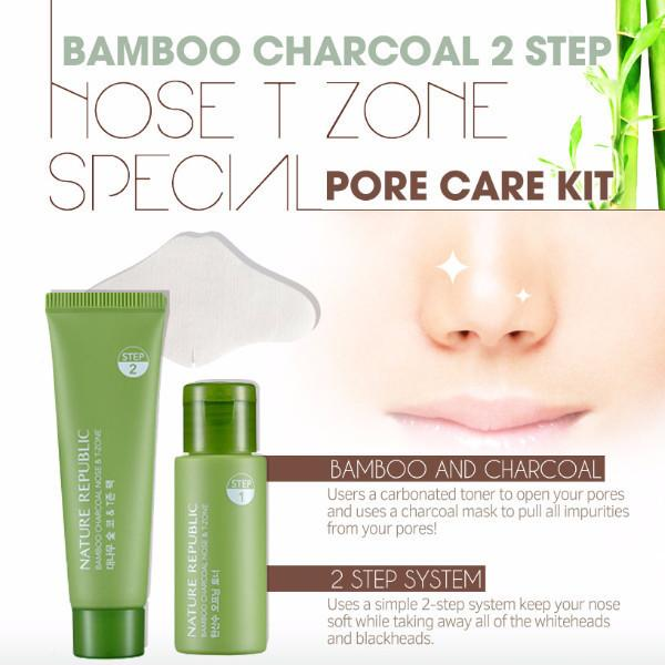 Nature Republic Bamboo Charcoal Nose T Zone Pack