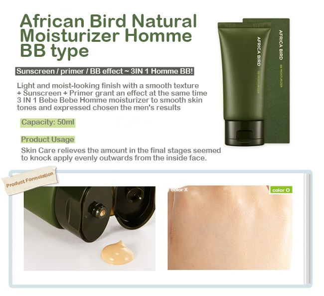 Nature Republic Africa Bird Homme BB Moisturizer [Natural Type] SPF30 PA ++