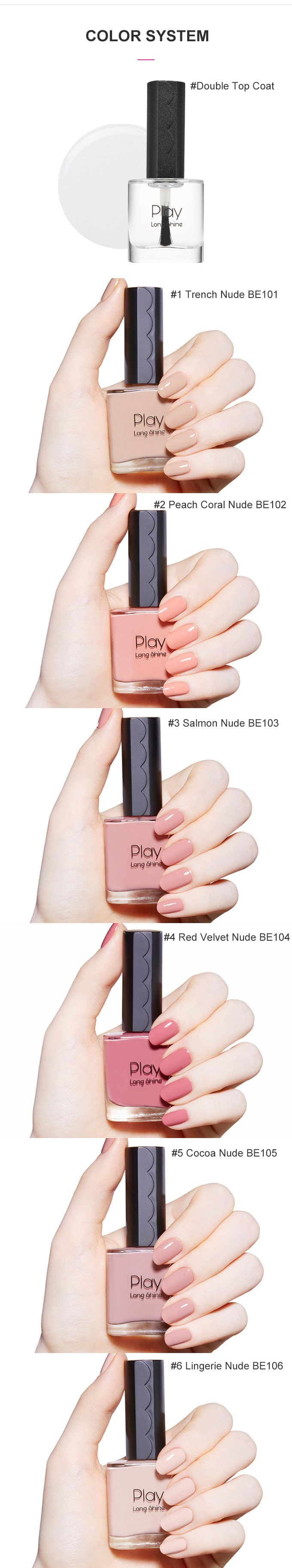 Buy ETUDE HOUSE Play Long Shine Nail [#1 Trench Nude]