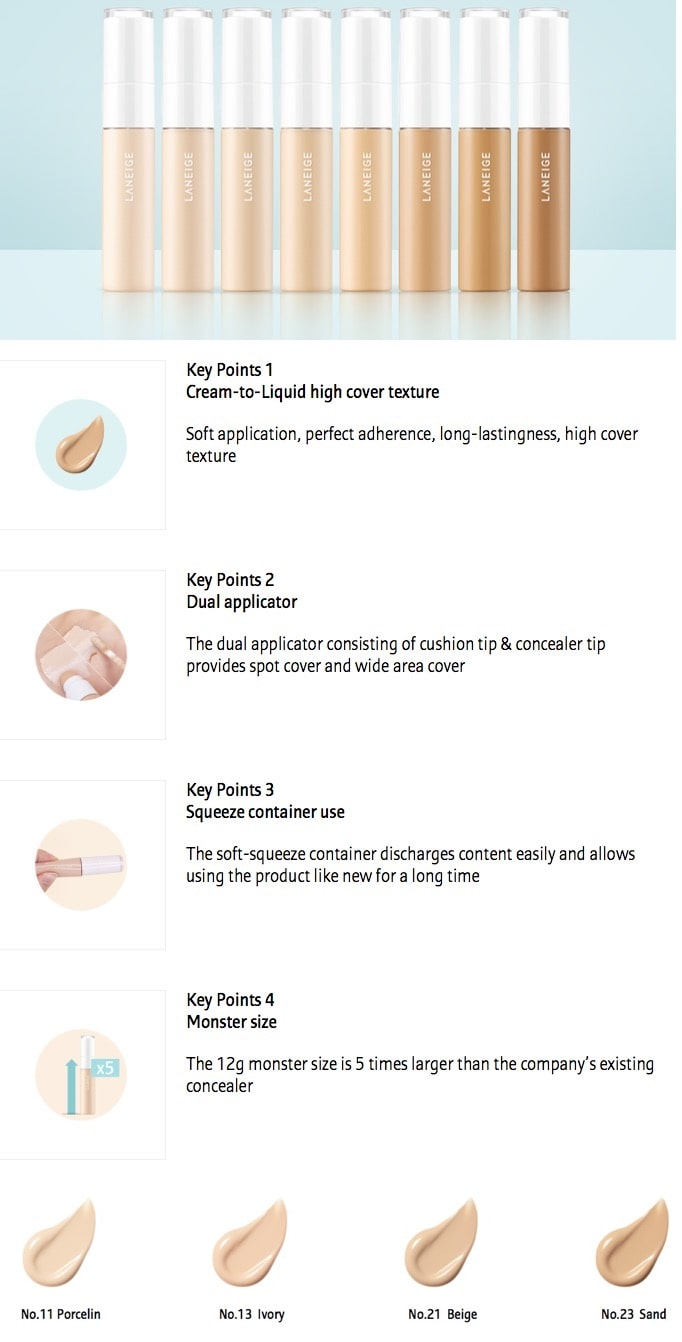 LANEIGE Real Cover Cushion Concealer [No.13 Ivory]
