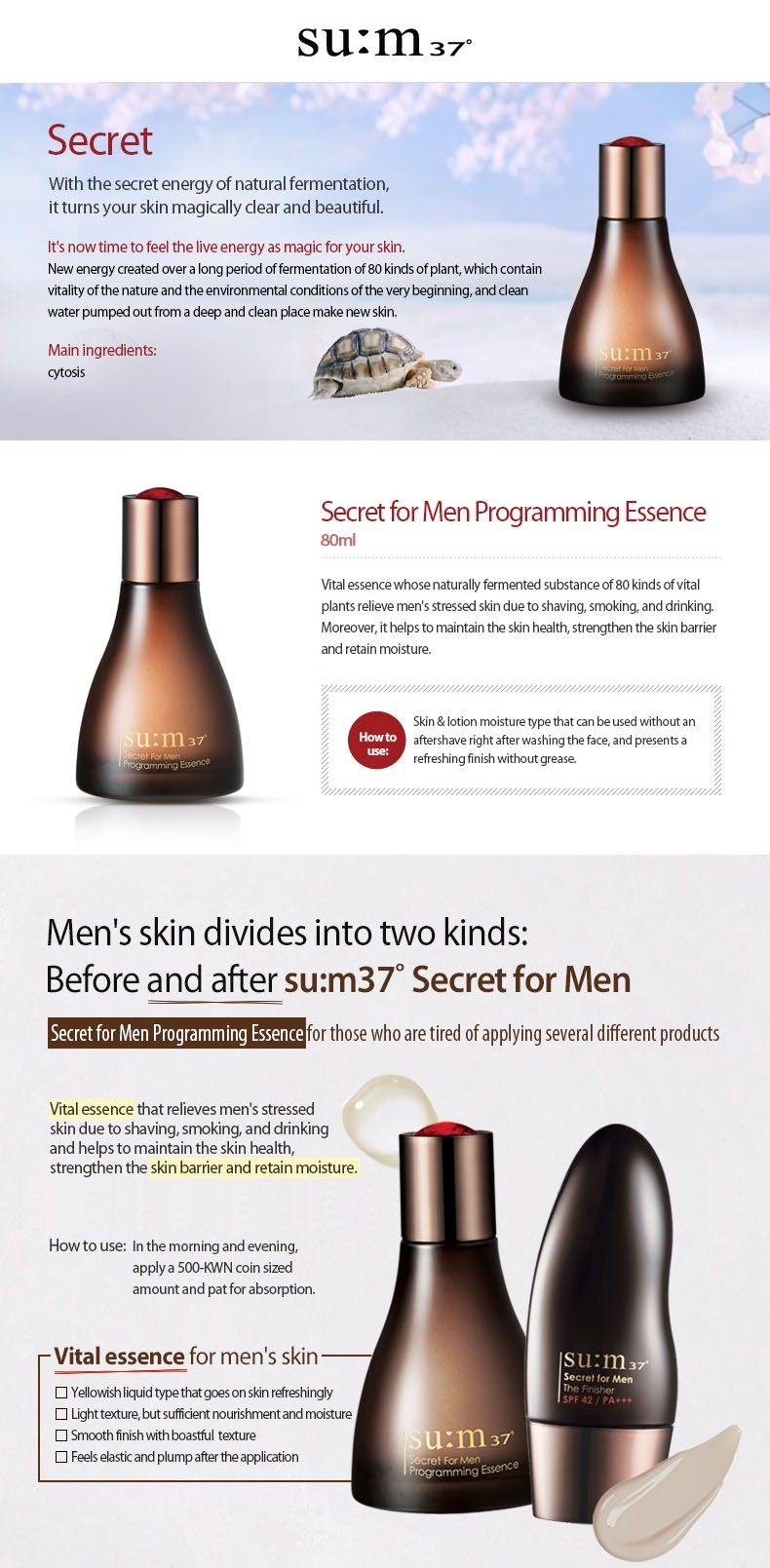 SU:M37° Secret For Men Programming Essence 80ml