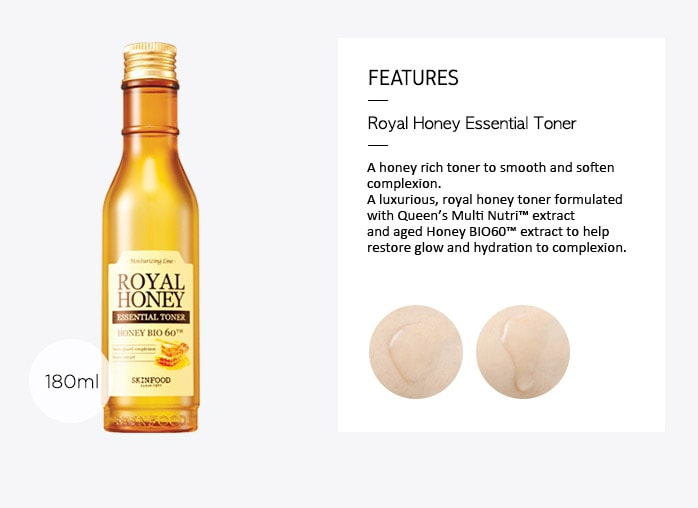 SKINFOOD Royal Honey Essential Toner (Dry Skin) - 180ml