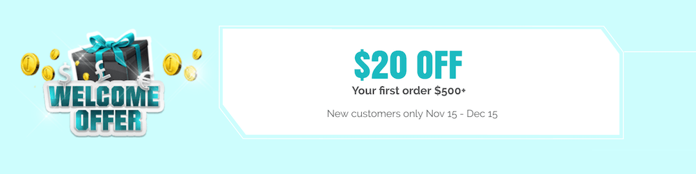 $20 OFF Your First Wholesale Order
