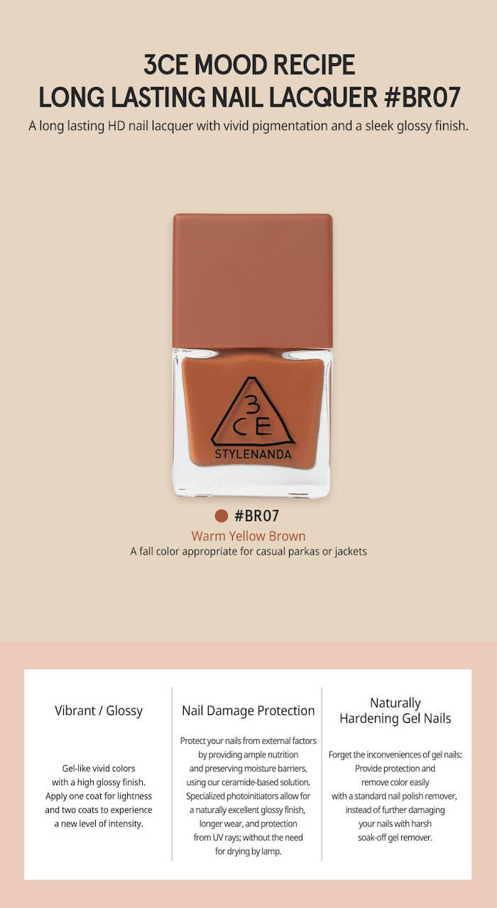 3CE Mood Recipe Long Lasting Nail Lacquer [#BR07]