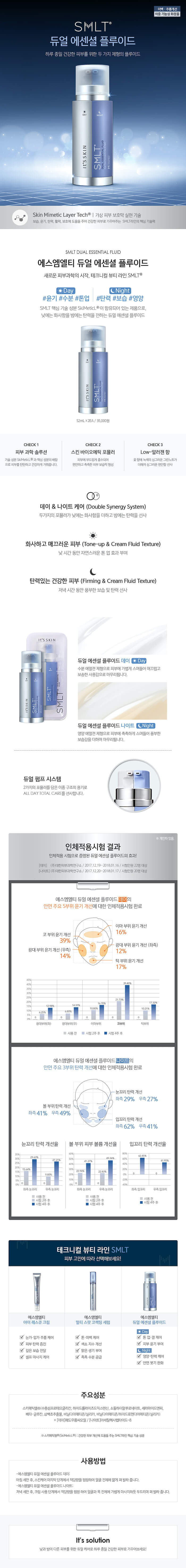 It's Skin SMLT Dual Essential Fluid 52 ml * 2ea