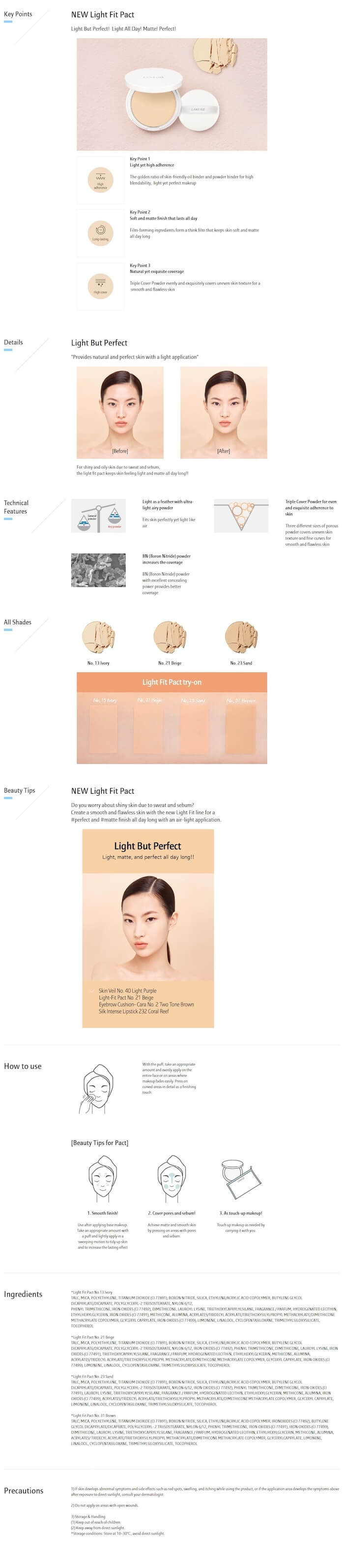 Laneige Light Fit Pact [#23 Sand]