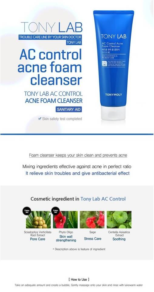 Tony Moly TONY LAB AC Control Acne Foam Cleanser 150ml