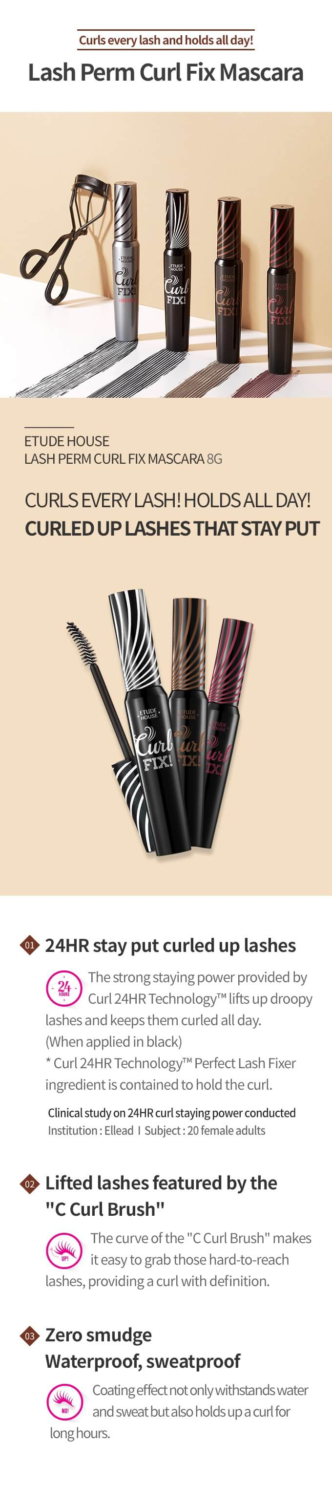 Etude House Lash Perm Curl Fix Mascara [#1 Black]