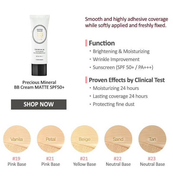 ETUDE HOUSE Precious Mineral Beautifying Block Cream Matte SPF50+/PA+++