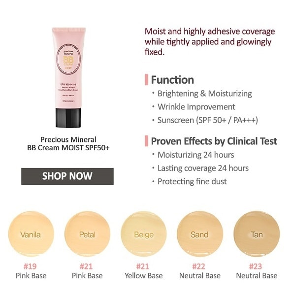 ETUDE HOUSE Precious Mineral Beautifying Block Cream Moist SPF50+/PA+++