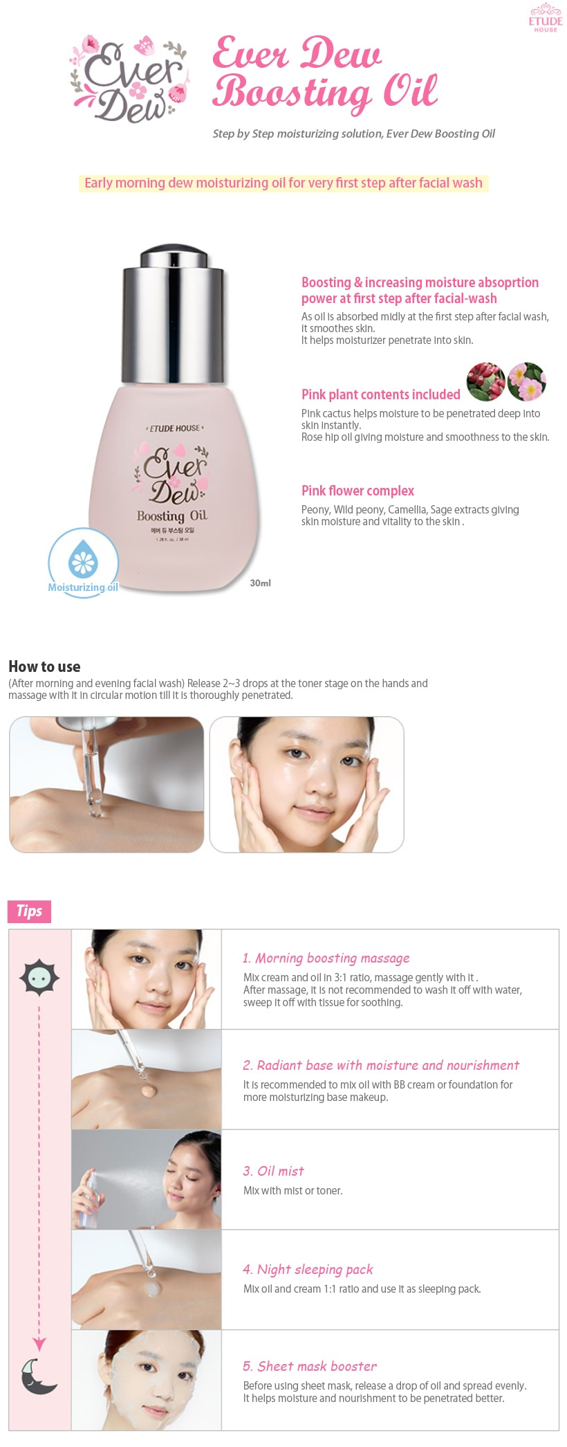 ETUDE HOUSE Ever Dew Boosting Oil 30ml
