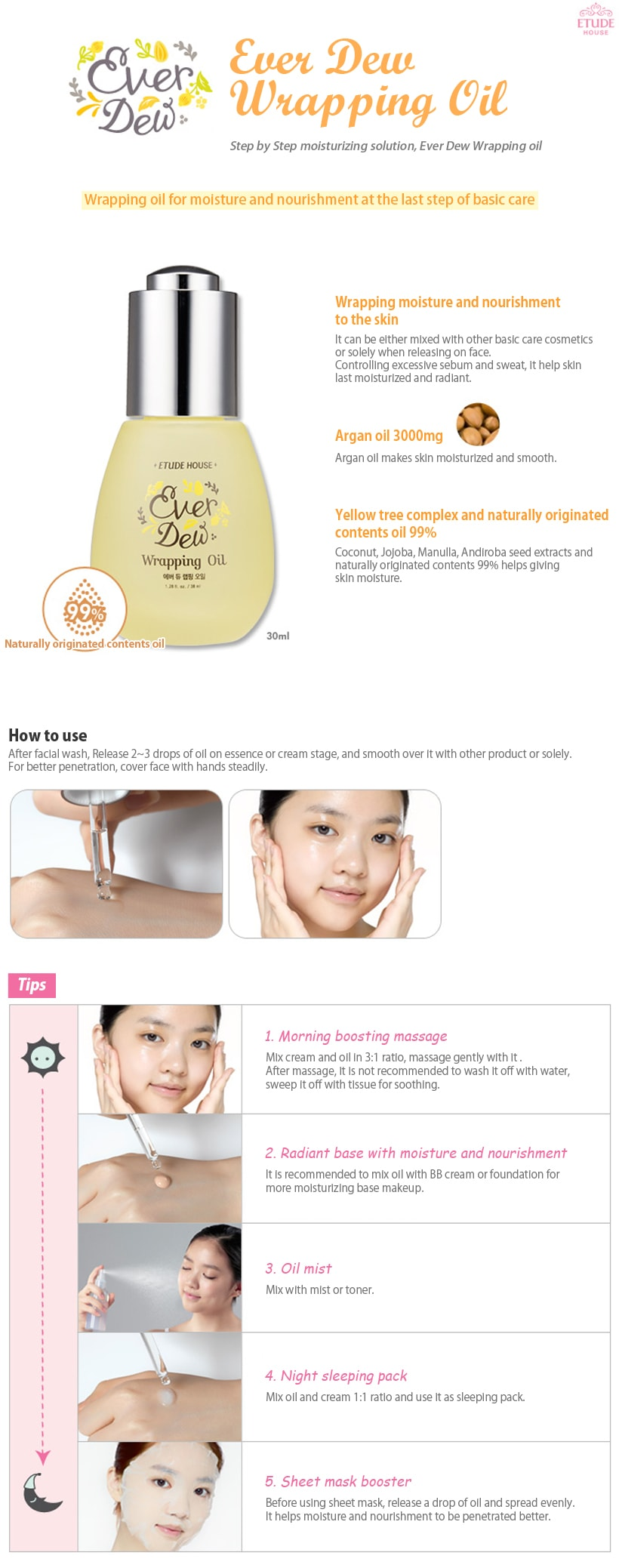 ETUDE HOUSE Ever Dew Wrapping Oil 30ml