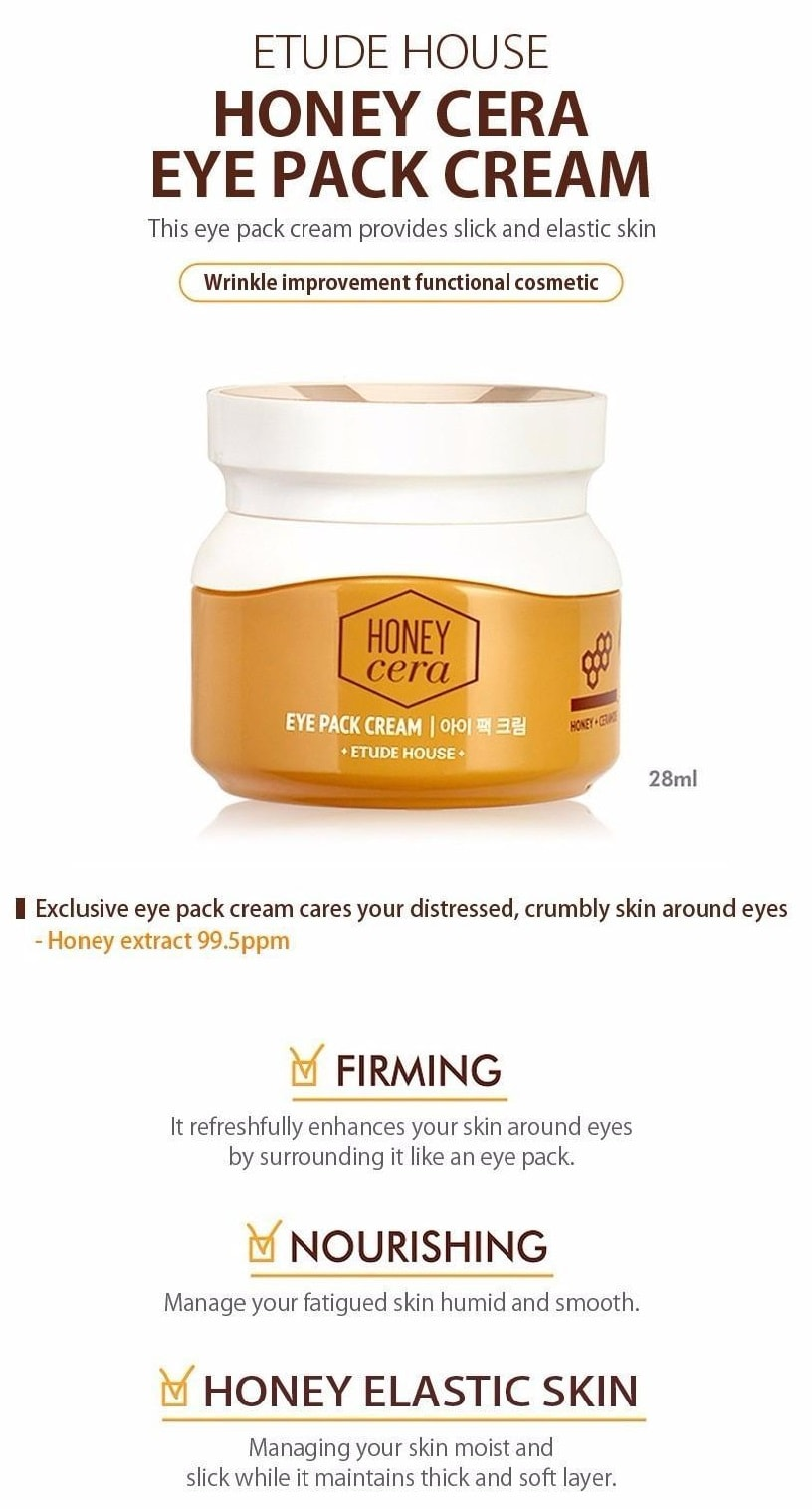 ETUDE HOUSE Honey Cera Eye Pack Cream 28ml
