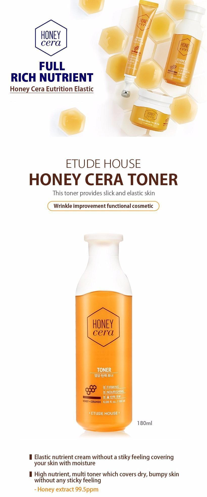 ETUDE HOUSE Honey Cera Toner 180ml