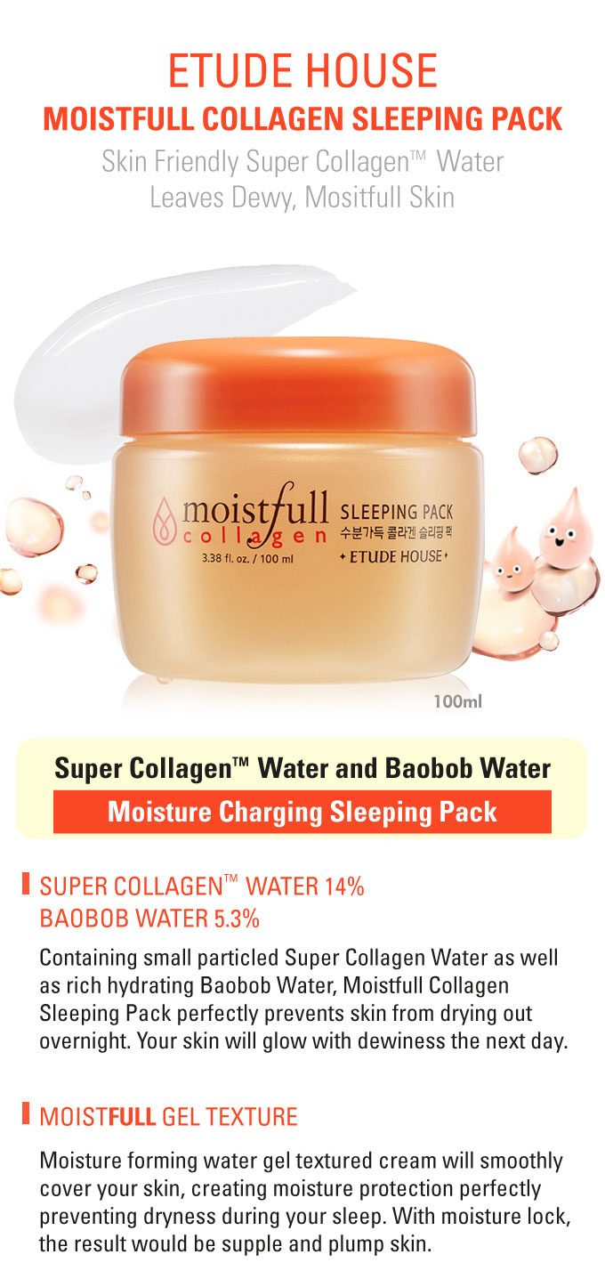 Etude House Collagen Moistfull Sleeping Pack - 100ml
