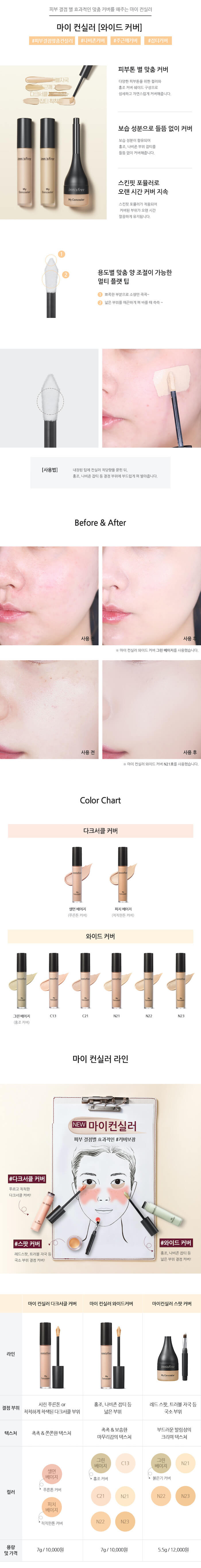 Innisfree My Concealer Wide Cover [#N21]