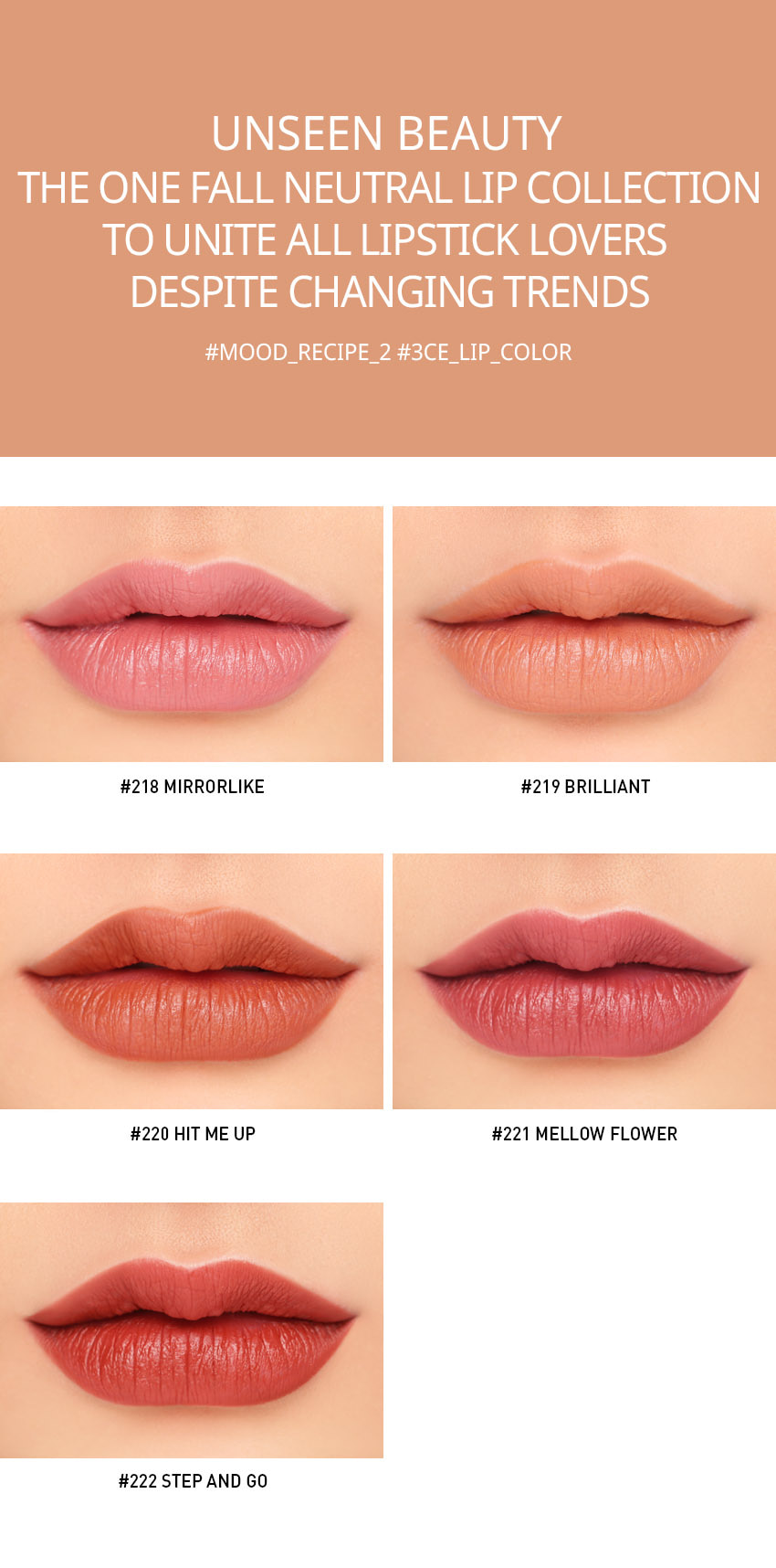 3CE Mood Recipe Matte Lip Color Sale