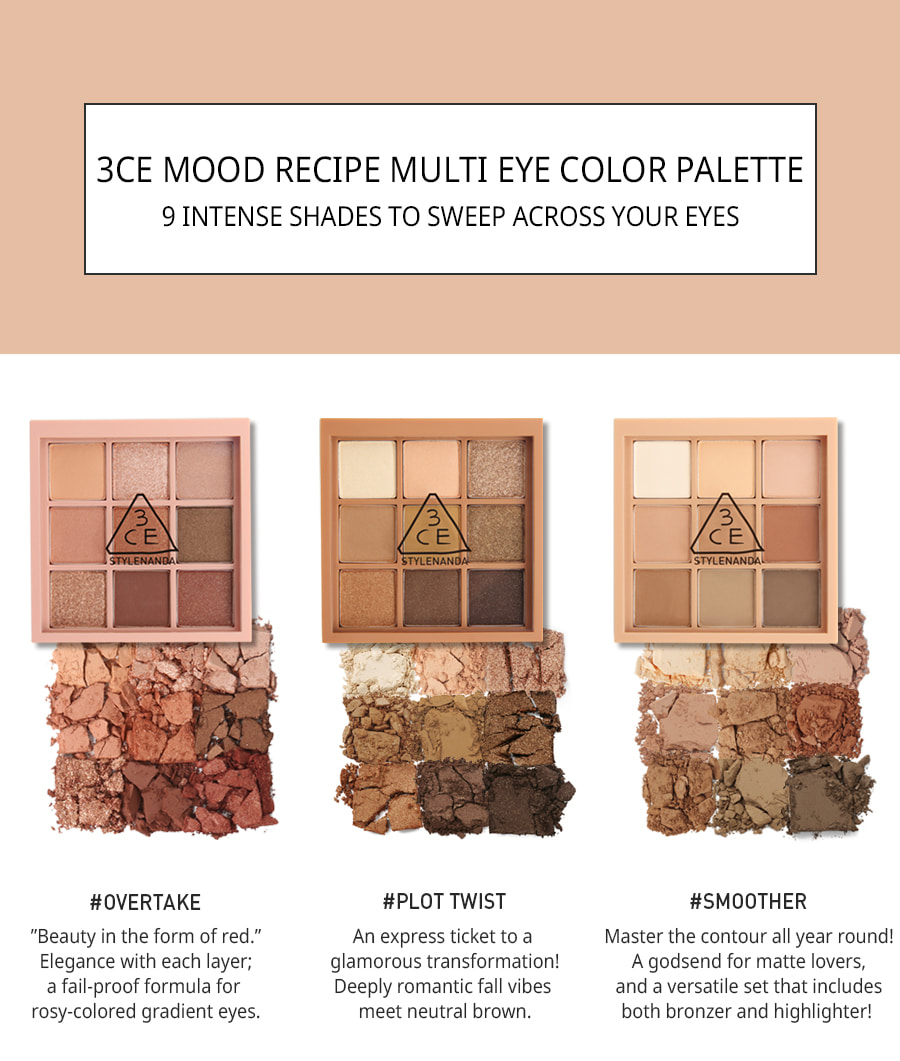 3CE Mood Recipe Shadow Color Palette