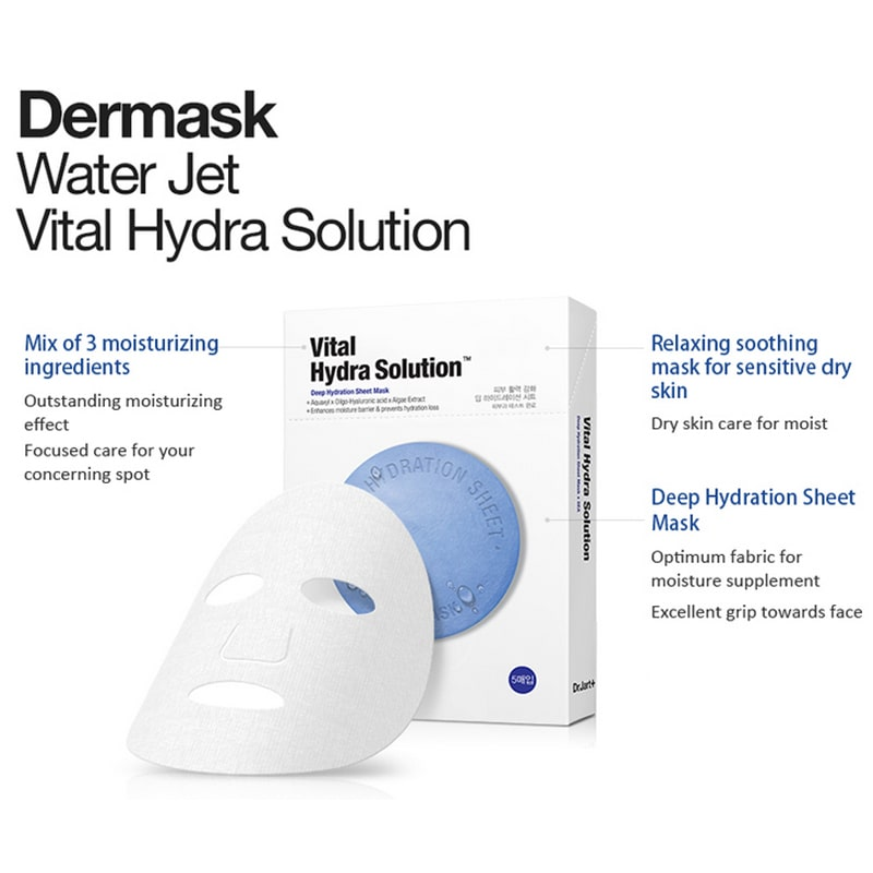 Dr.Jart+ Dermask Water Jet Vital Hydra Solution Mask 5 Sheets