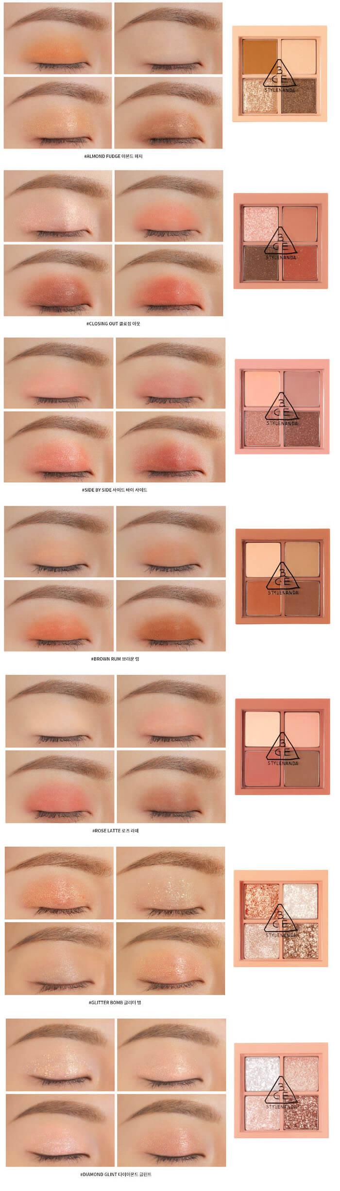 3CE Mini Multi Eye Color Palette 3.2g