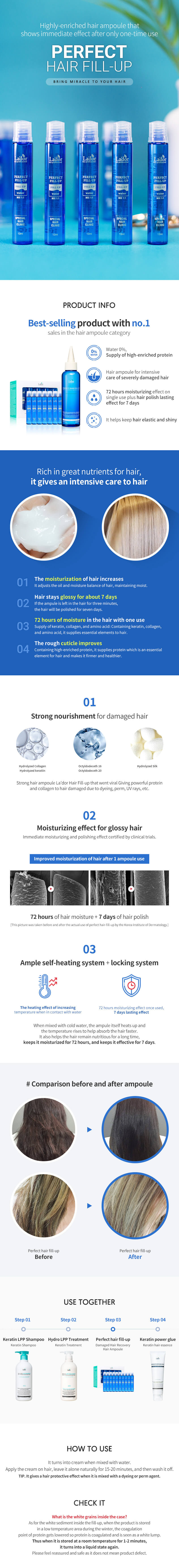 Lador Perfect Hair Fill-up Hair Ampoule 13ml x 20ea