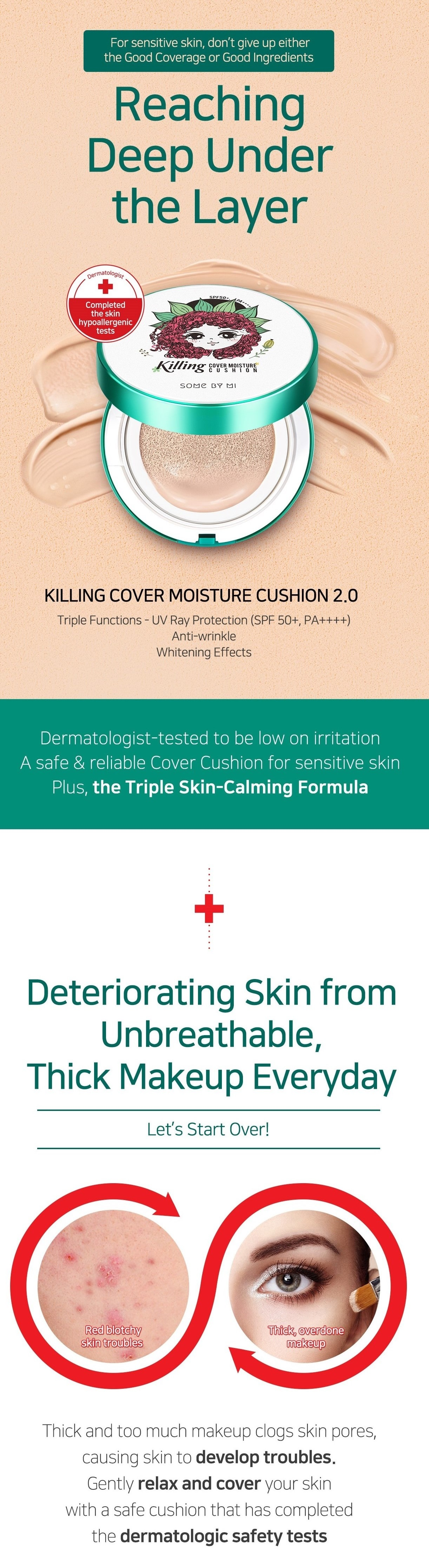 SOME BY MI Killing Cover Moisture Cushion 2.0 SPF50+/PA++++